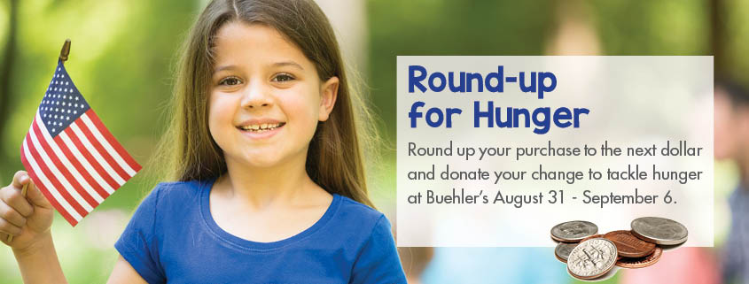 Buehler's Round-Up for Hunger campaign 2016