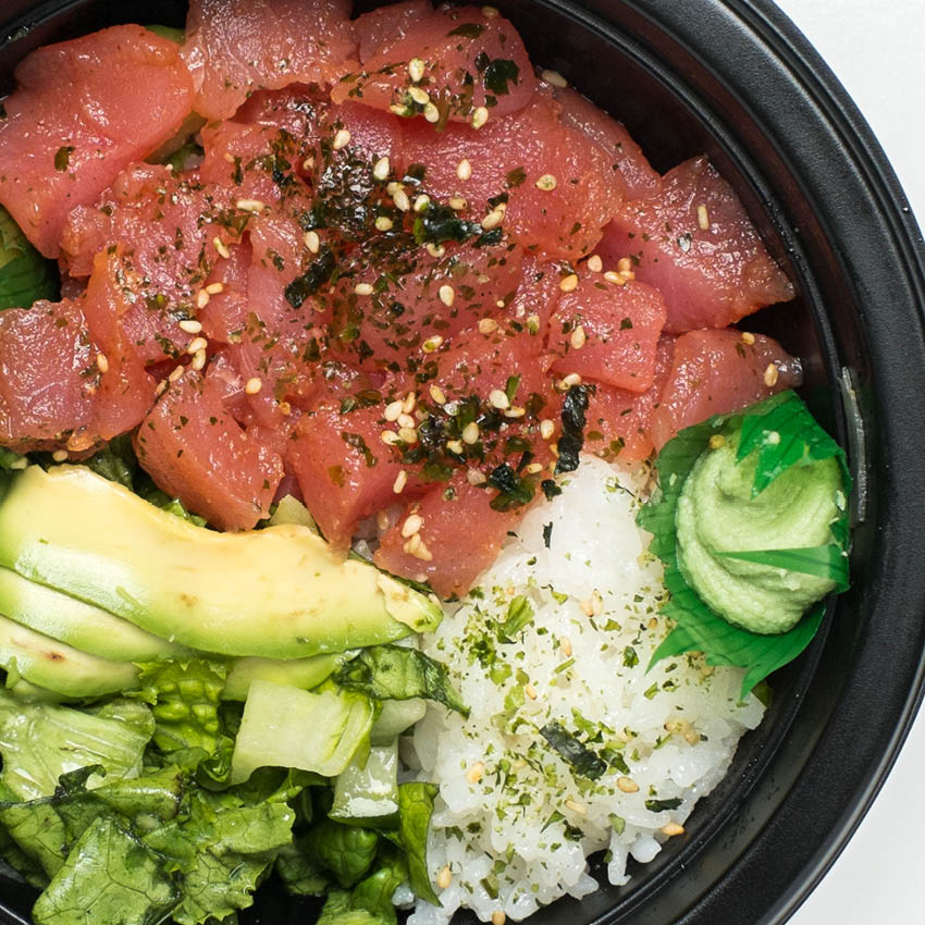 Tuna Poke Rice Bowl at Buehler's Sushi Kabar