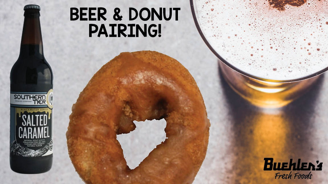 beer and donut pairing - cider donut