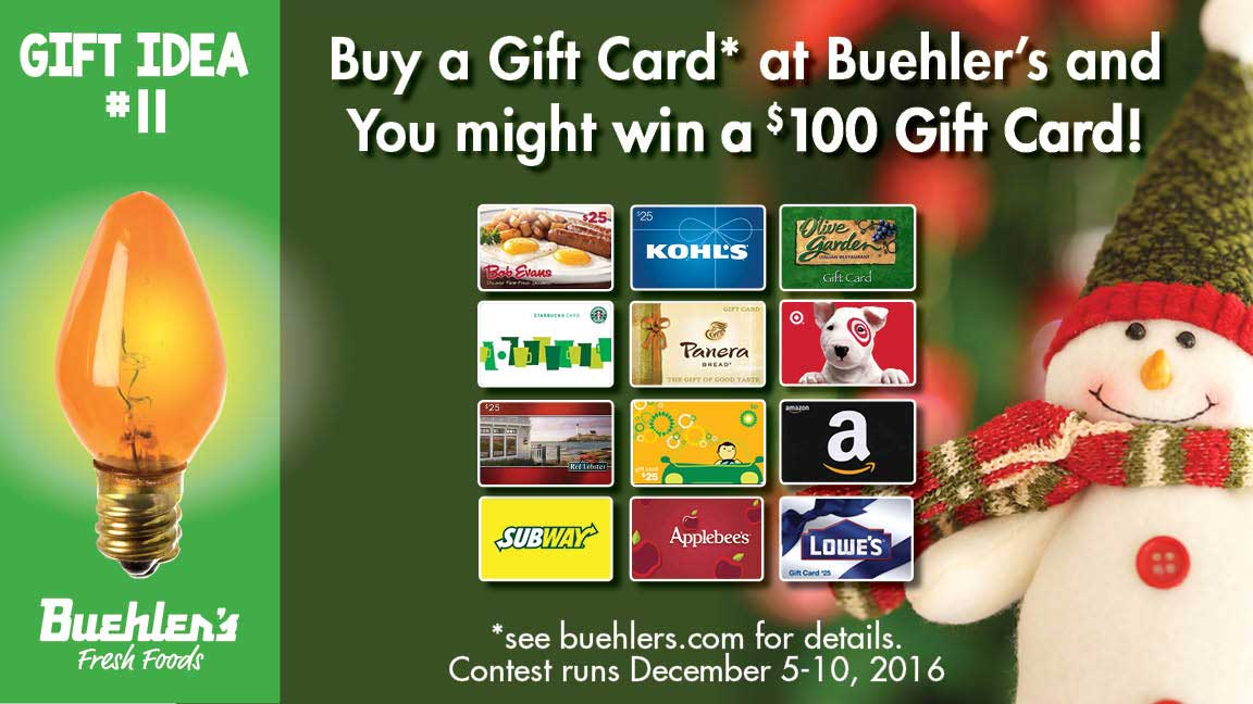 Gift Cards - Buehler's stocks over 300 different cards