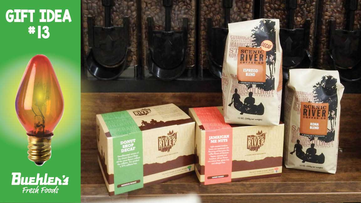 Scenic River Coffee - a Buehler's exclusive - comes in K-cups, ground or whole bean