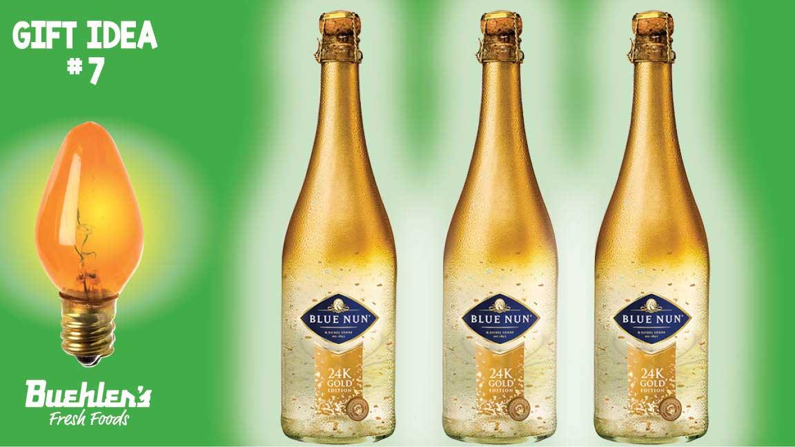 Gold sparkling wine