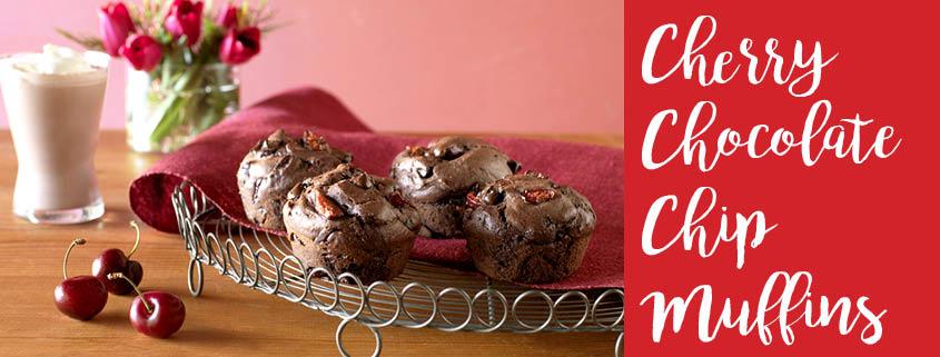 Cherry Chocolate Chip Muffins recipe