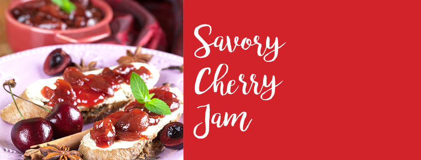 Savory Cherry Jam recipe