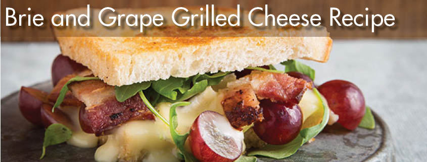 Brie and Grape Grilled Cheese Sandwich