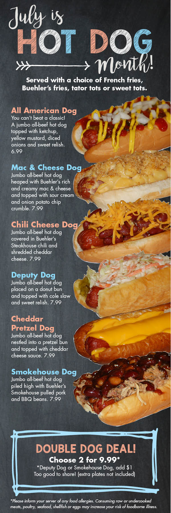 Hot Dog Month Restaurant Specials for July