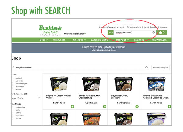 Search for your favorite grocery items