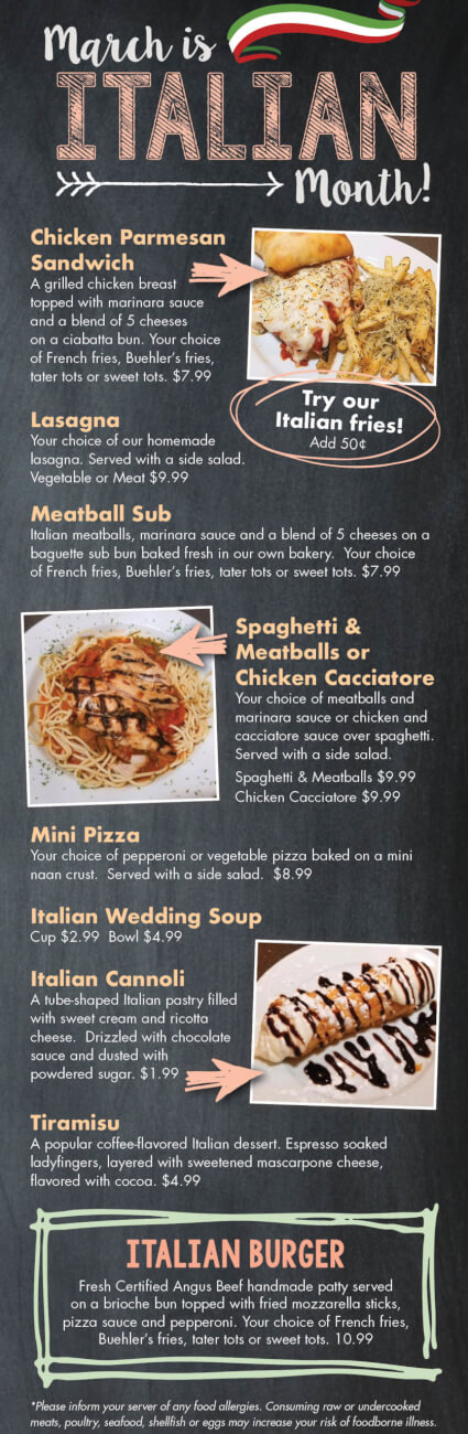 Italian Specials during March