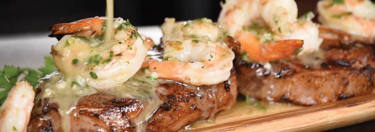 Steak and Shrimp Scampi
